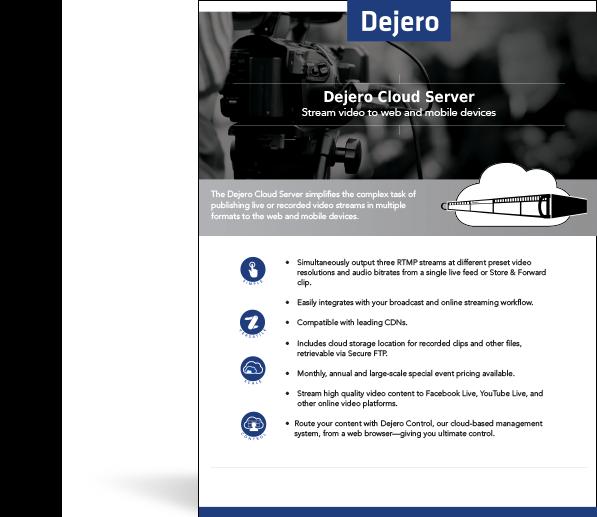Dejero Cloud Server Product Brief